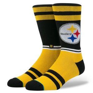 🆕 Stance NFL Pittsburgh Steelers Crew Socks